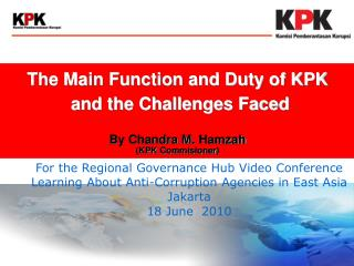 For the Regional Governance Hub Video Conference