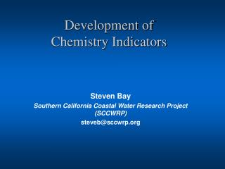 Development of  Chemistry Indicators