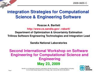 Integration Strategies for Computational Science & Engineering Software