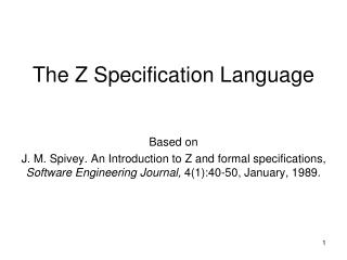 The Z Specification Language