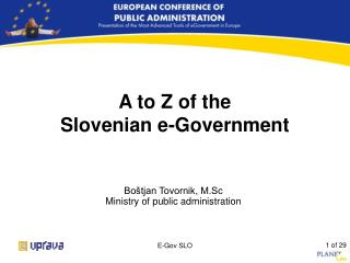 A to Z of the Slovenian e-Government