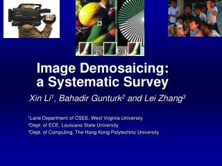 Image Demosaicing:  a Systematic Survey