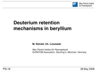 Deuterium retention mechanisms in beryllium