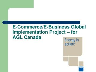 E-Commerce/E-Business Global Implementation Project – for AGL Canada