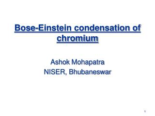 Bose-Einstein condensation of chromium