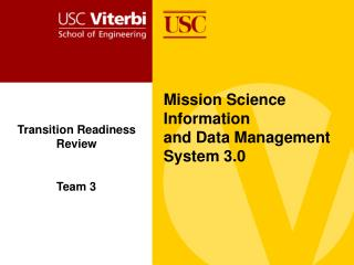 Mission Science Information  and Data Management System 3.0
