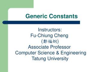 Generic Constants