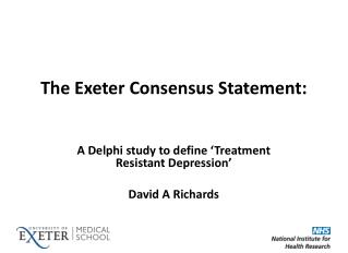 The Exeter Consensus Statement :