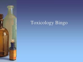 Toxicology Bingo