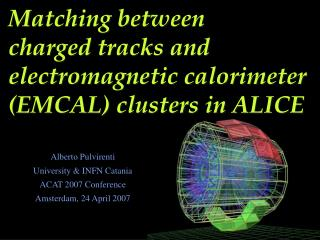 Matching between  charged tracks and electromagnetic calorimeter (EMCAL) clusters in ALICE