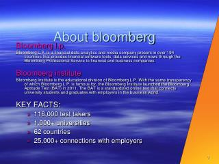 About  bloomberg