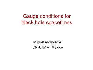 Gauge conditions for black hole spacetimes