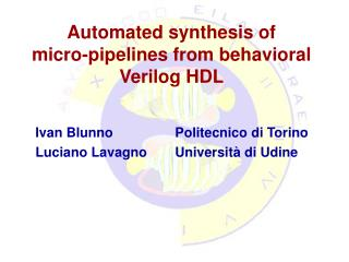 Automated synthesis of  micro-pipelines from behavioral Verilog HDL