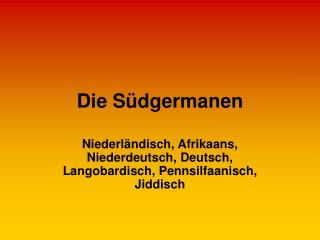 Die Südgermanen