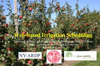 Web-based Irrigation Scheduling
