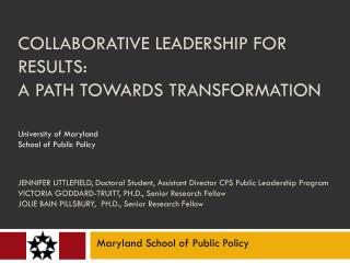 University of Maryland School of Public Policy