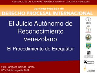 Jornada Práctica de DERECHO PROCESAL INTERNACIONAL