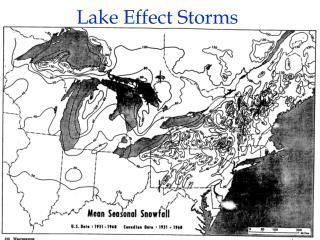 Lake Effect Storms