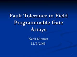 Fault Tolerance in Field Programmable Gate Arrays