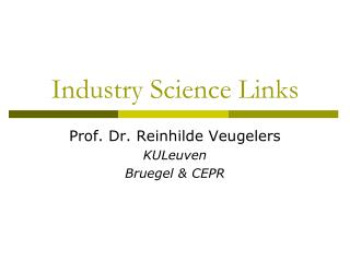 Industry Science Links