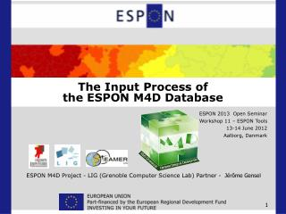 The Input Process of  the ESPON M4D Database
