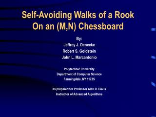 Self-Avoiding Walks of a Rook On an M,N Chessboard