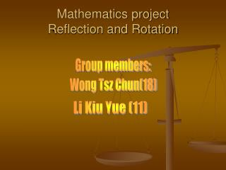 Mathematics project Reflection and Rotation