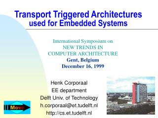 Transport Triggered Architectures  used for Embedded Systems