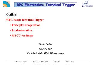 RPC Electronics: Technical Trigger