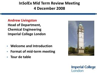 InSolEx Mid Term Review Meeting 4 December 2008