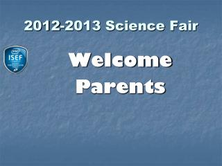 2012-2013 Science Fair