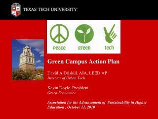 peace  green  tech Green Campus Action Plan