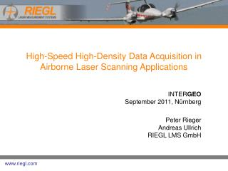 High-Speed High-Density Data Acquisition in Airborne Laser Scanning Applications