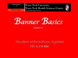 B anner  B asics Version 7.4
