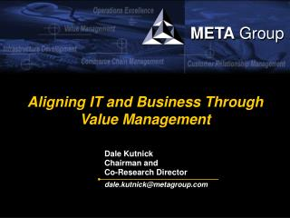 Aligning IT and Business Through Value Management