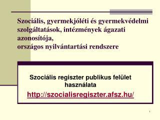 Szociális regiszter publikus felület használata szocialisregiszter.afsz.hu/