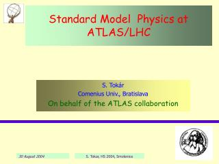 Standard Model  Physics at ATLAS/LHC