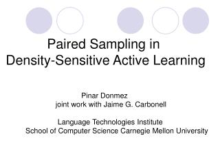 Paired Sampling in  Density-Sensitive Active Learning
