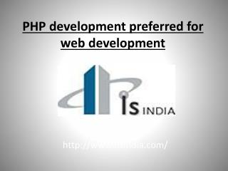 PHP development preferred for web development