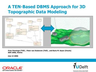 A TEN-Based DBMS Approach for 3D Topographic Data Modeling