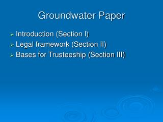 Groundwater Paper