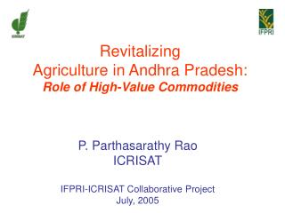 Revitalizing  Agriculture in Andhra Pradesh: Role of High-Value Commodities