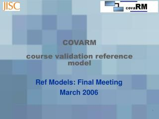 COVARM course validation reference model