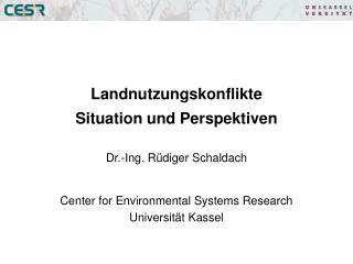 Landnutzungskonflikte  Situation und Perspektiven