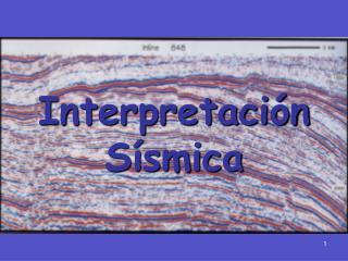 Interpretaci�n S�smica