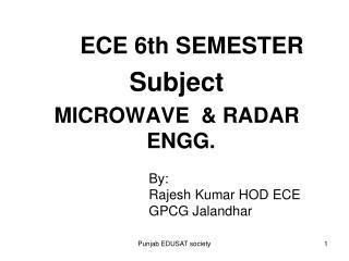 ECE 6th SEMESTER