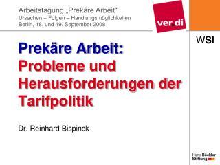 Prekäre Arbeit: Probleme und Herausforderungen der Tarifpolitik