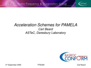 Acceleration Schemes for PAMELA  Carl Beard  ASTeC, Daresbury Laboratory