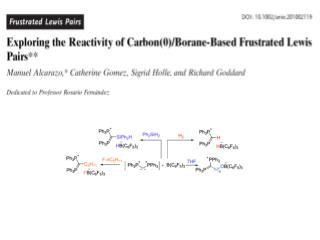 Lewis Acid/Base Adduct FLP  �  Frustration -> activity