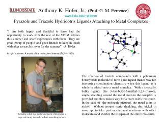 Anthony K. Hofer, Jr.,  (Prof. G. M. Ferrence) ilstu/~gferren